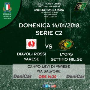 Esordio nel 2018 in casa dei Diavoli Rossi di Varese per la Prima Squadra domenica 14 gennaio.