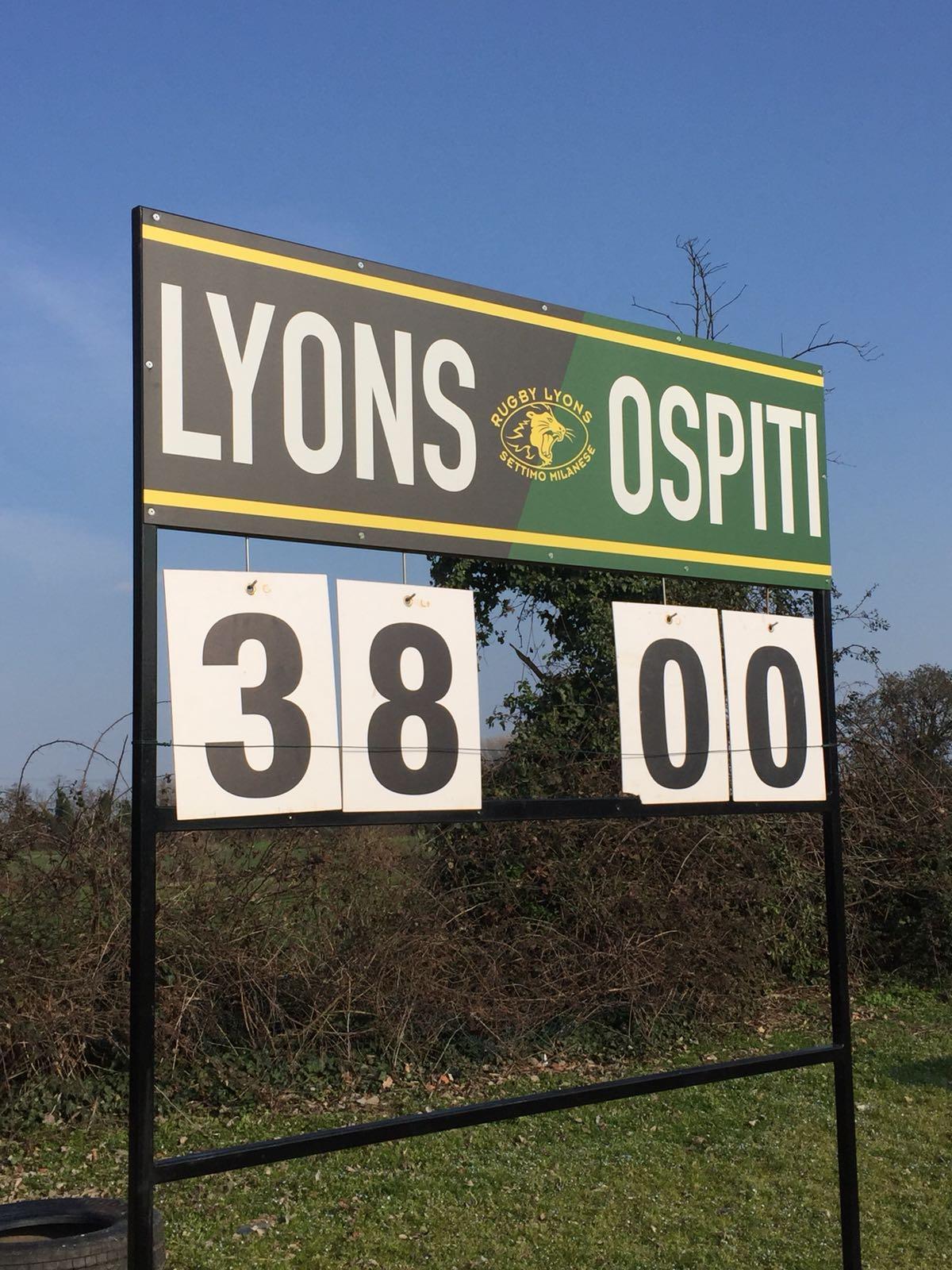 Altra vittoria per i Lyons di Settimo M.se