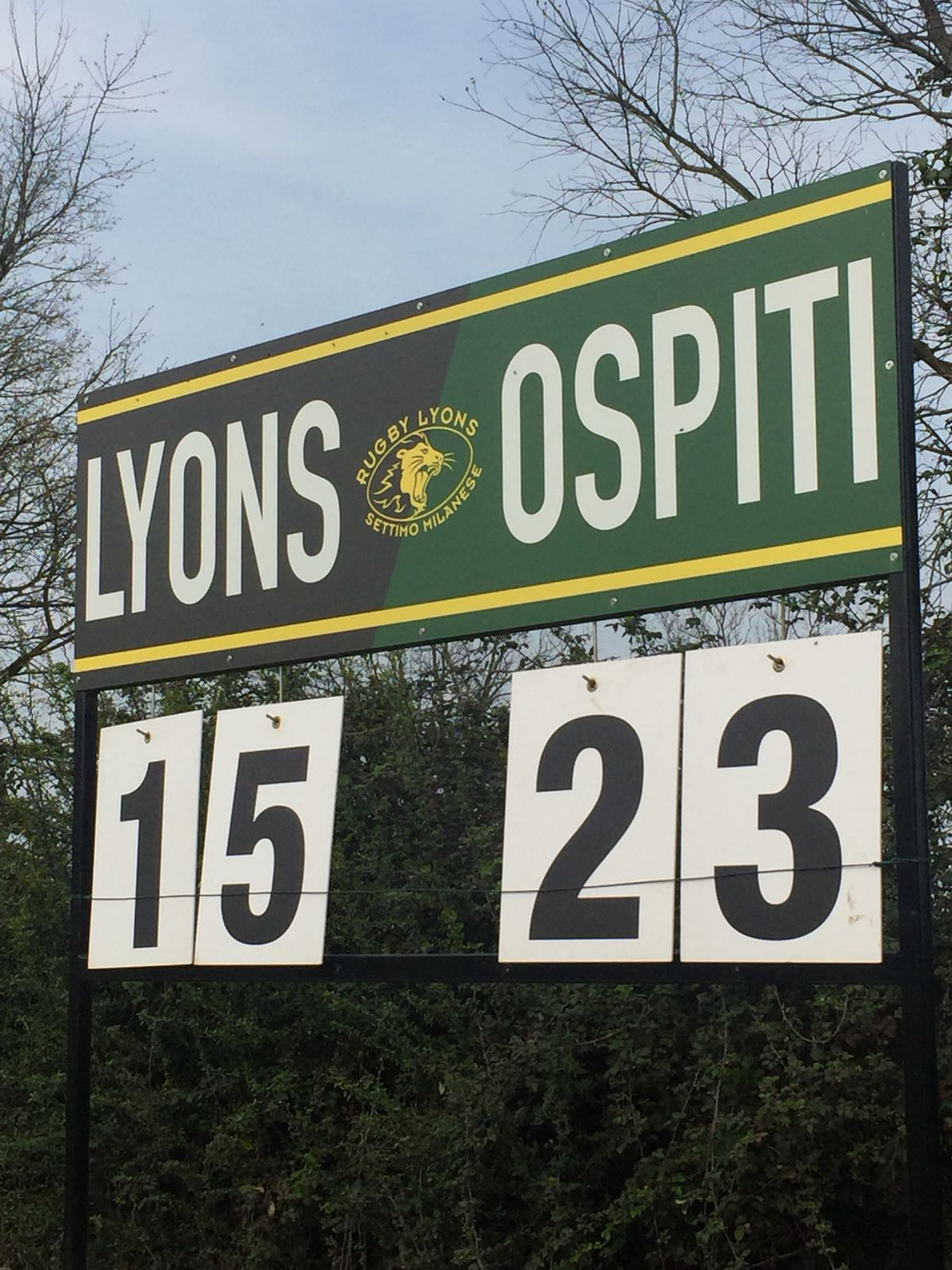 Rugby Lyons Vs Malpensa Rugby