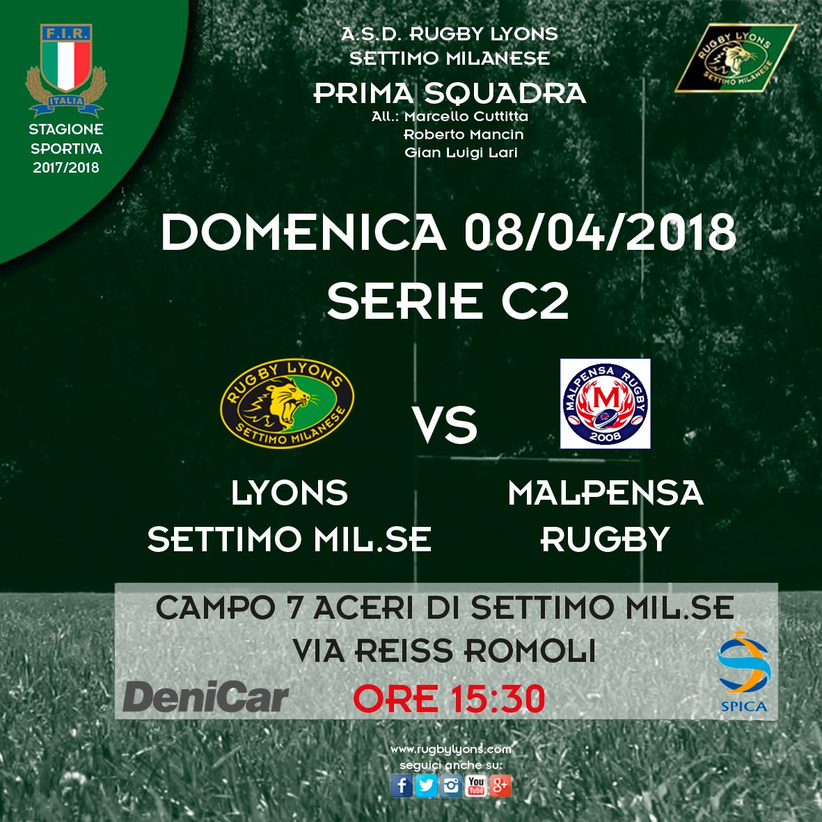 Programma Weekend Serie C2 – Prima Squadra