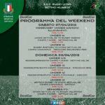 Programma Weekend del 7 e 8 aprile 2018