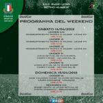 Programma Weekend del 14 e 15 aprile 2018