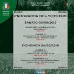 Programma Weekend 5 e 6 Maggio 2018