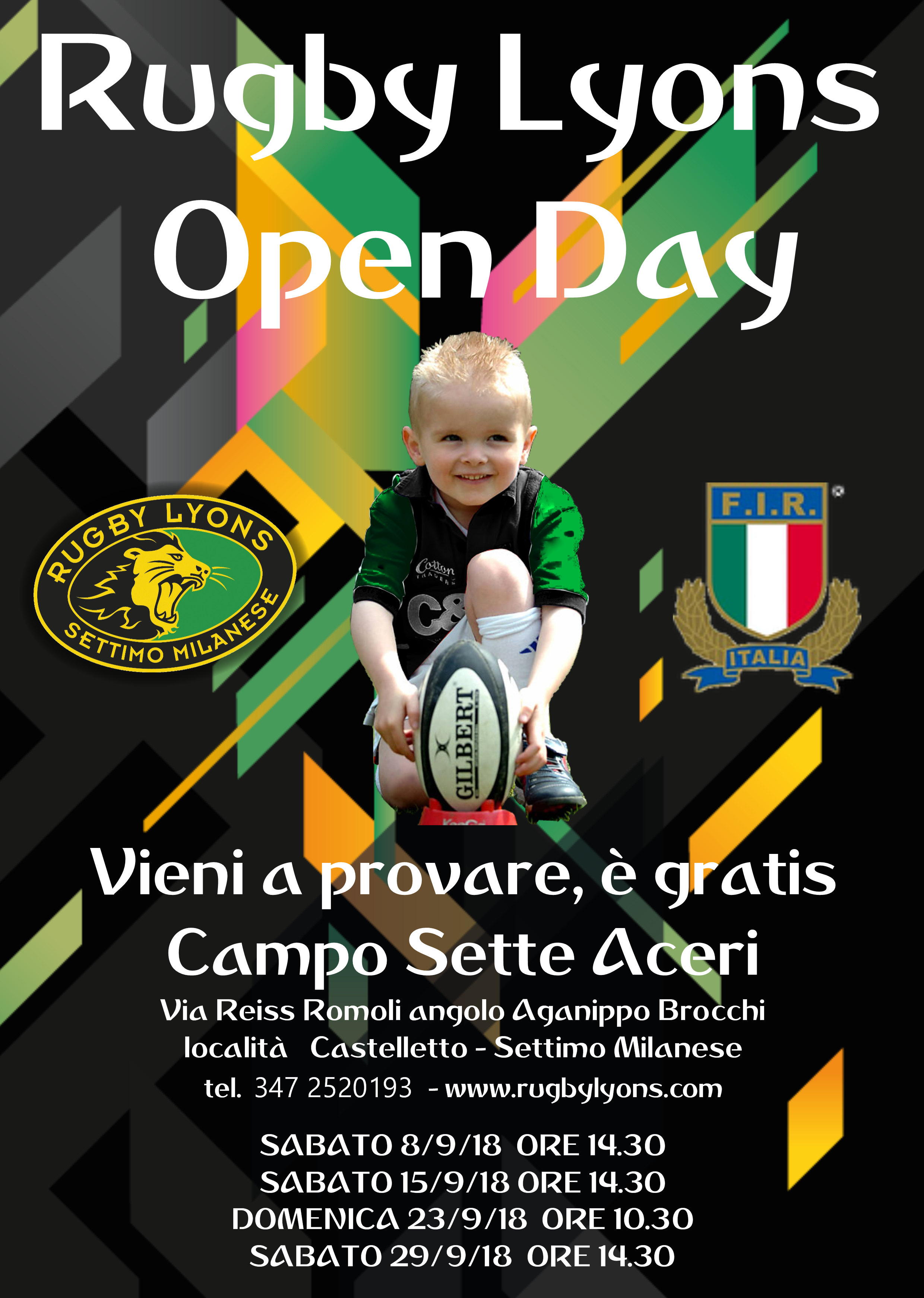 OPEN DAYS RUGBY LYONS – DAI 6 ANNI A 99