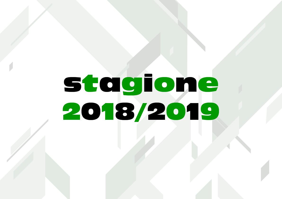 Date ed Orari per le prime sedute di allenamento stagione 2018/2019.