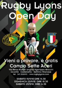 Open Day 2 – 15 Settembre 2018