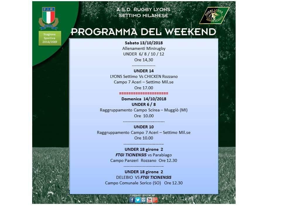 Programma Weekend