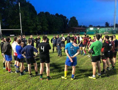 Primo allenamento della nuova Seniores del Rugby Lyons di Settimo M.se