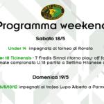 Programma del WeekEnd – 18 e 19 Maggio 2019