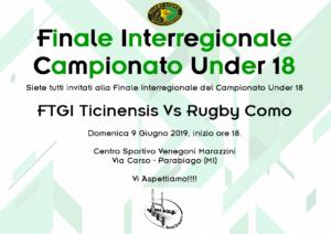 Tutti a Sostegno per la Finale dei Ticinensis U18